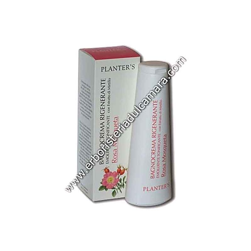 Bagnocrema Rigenerante Emolliente Tonificante alla Rosa Mosqueta (200 ml) Planters - Regali