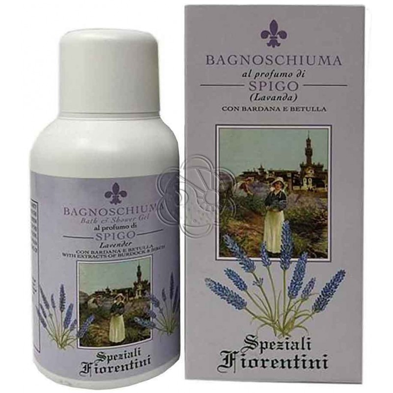 Bagnoschiuma Lavanda (250 ml) - Derbe Speziali Fiorentini - Regali