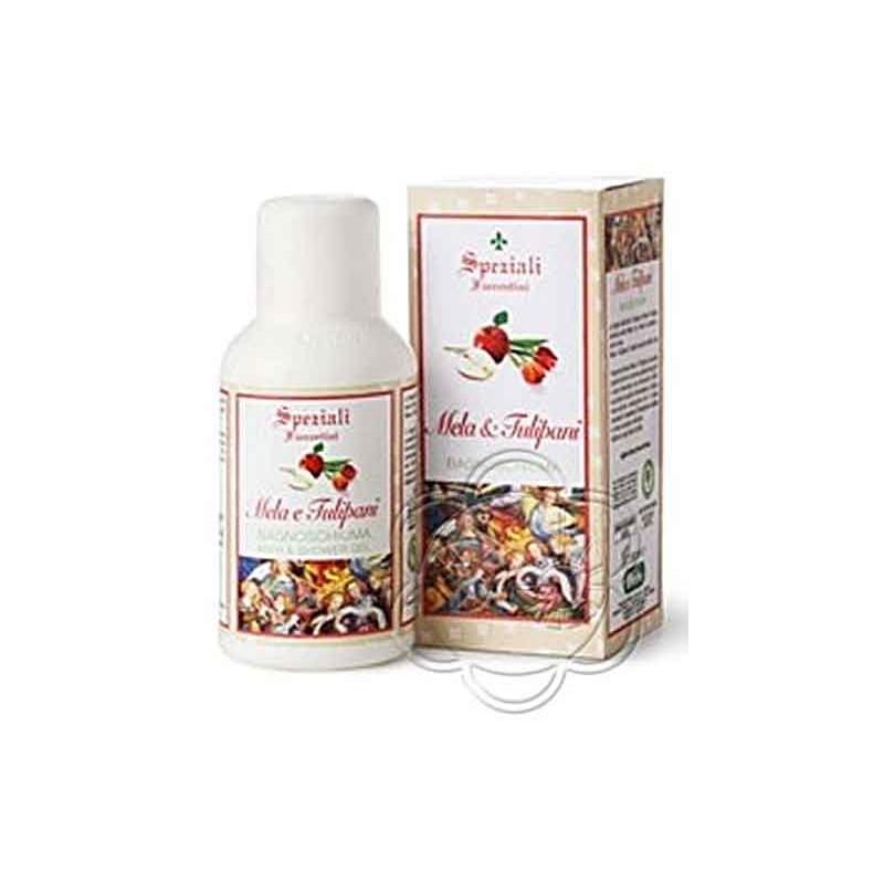 Bagnoschiuma Mela & Tulipani (250 ml) Derbe Speziali Fiorentini - Regali