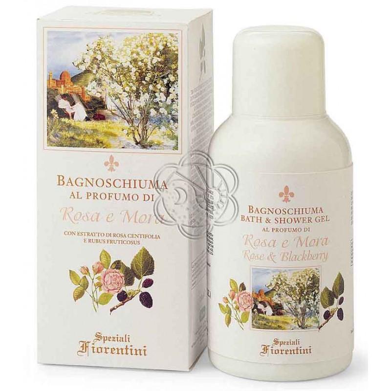 Bagnoschiuma Rosa e Mora (250 ml) Derbe Speziali Fiorentini - Regali