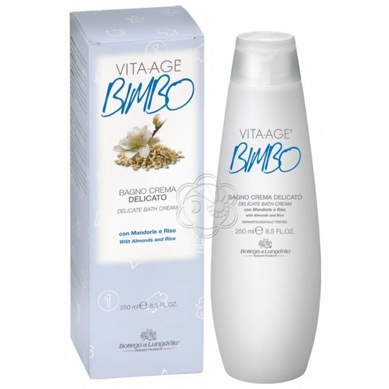 Bagnocrema Delicato Vita Age Bimbo (250 ml) Bottega di Lungavita - Bagnischiuma Bimbi