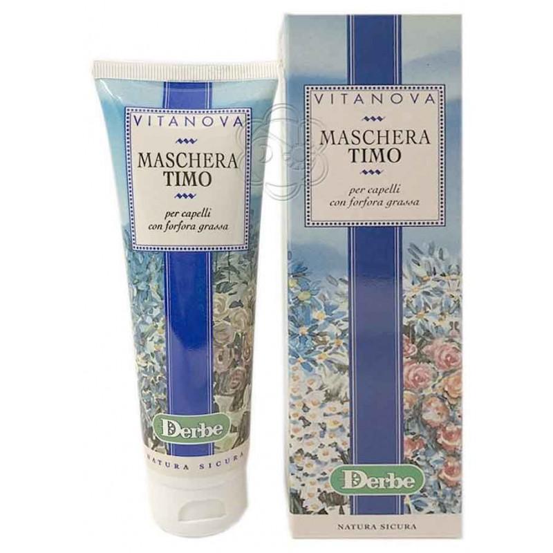 Maschera Timo per Forfora Grassa (125 ml) - Derbe Vitanova - Balsami e Impacchi Capelli