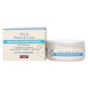 Maschera Ristrutturante olio di Semi di Lino (150 ml) Vital Factors - Maschere per Capelli