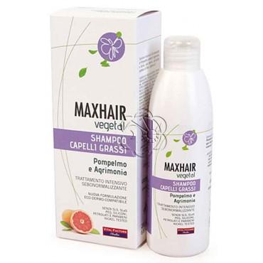 Shampoo Capelli Grassi MaxHair (200 ml) Vital Factors - Detergenti Delicati