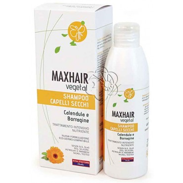Shampoo Capelli Secchi MaxHair (200 ml) Vital Factors - Detergenti Delicati