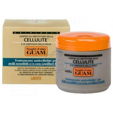 Fango Anticellulite per Pelli Sensibili e Fragilità Capillare (500 g) Guam Lacote - Fanghi Anticellulite Delicati