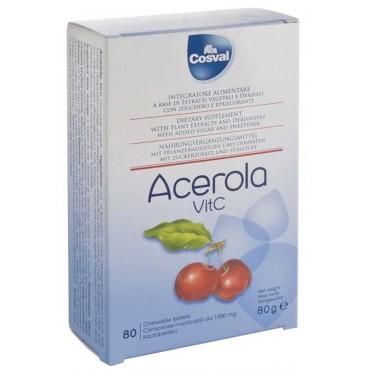 Acerola Tavolette Masticabili (80 Tavolette da 1000 mg) Cosval - Vitamina C