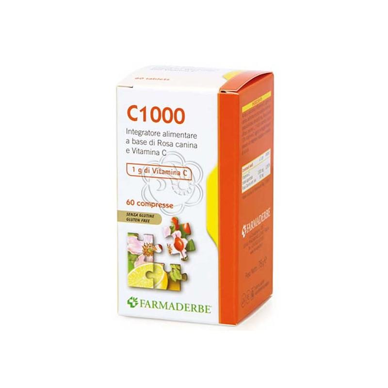 C1000 - Vitamina C (60 Compresse da 1000 mg) Farmaderbe - Vitamina C Naturale