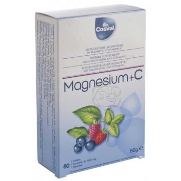 Magnesium + C (60 Tavolette Masticabili) Cosval - Vitamine