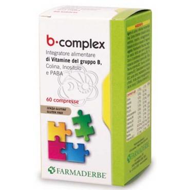 B Complex (60 Compresse) Farmaderbe - Vitamine B, Vitamina B, Complesso B