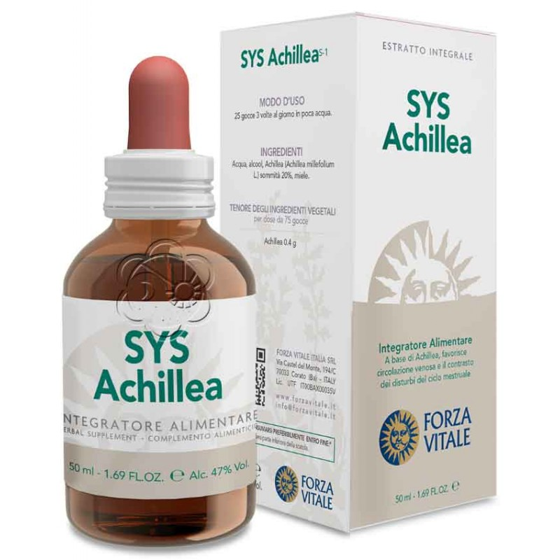 Sys Achillea 50 ml (Achillea millefolium) Forza Vitale - Tinture Madri