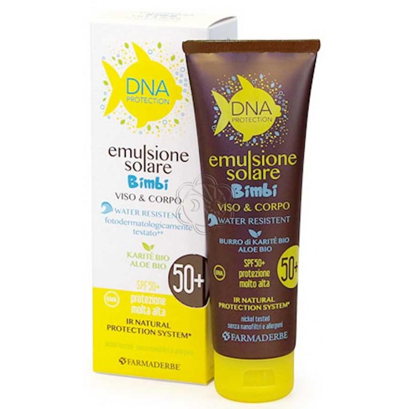 Emulsione Solare Bimbi DNA 50+ (125 ml) Farmaderbe - Abbronzanti