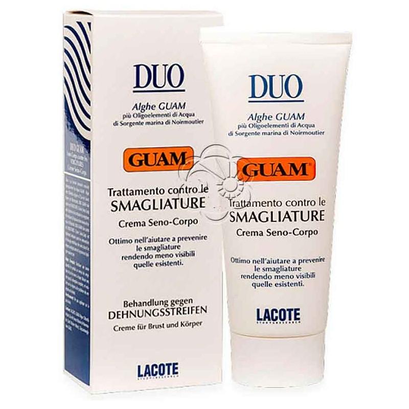 Crema Antismagliature Seno Corpo Duo (200 ml) Guam Lacote - Rilassamento Pelle
