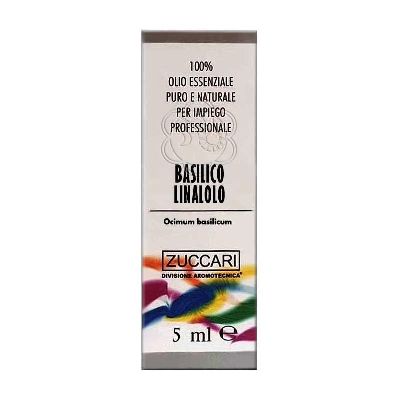 Olio Essenziale di Basilico Linalolo (5 ml) Zuccari - Aromaterapia
