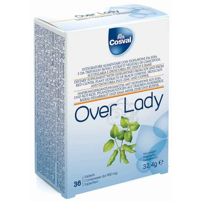 Over Lady (36 Compresse) Cosval - Erbe In Tavolette, Menopausa