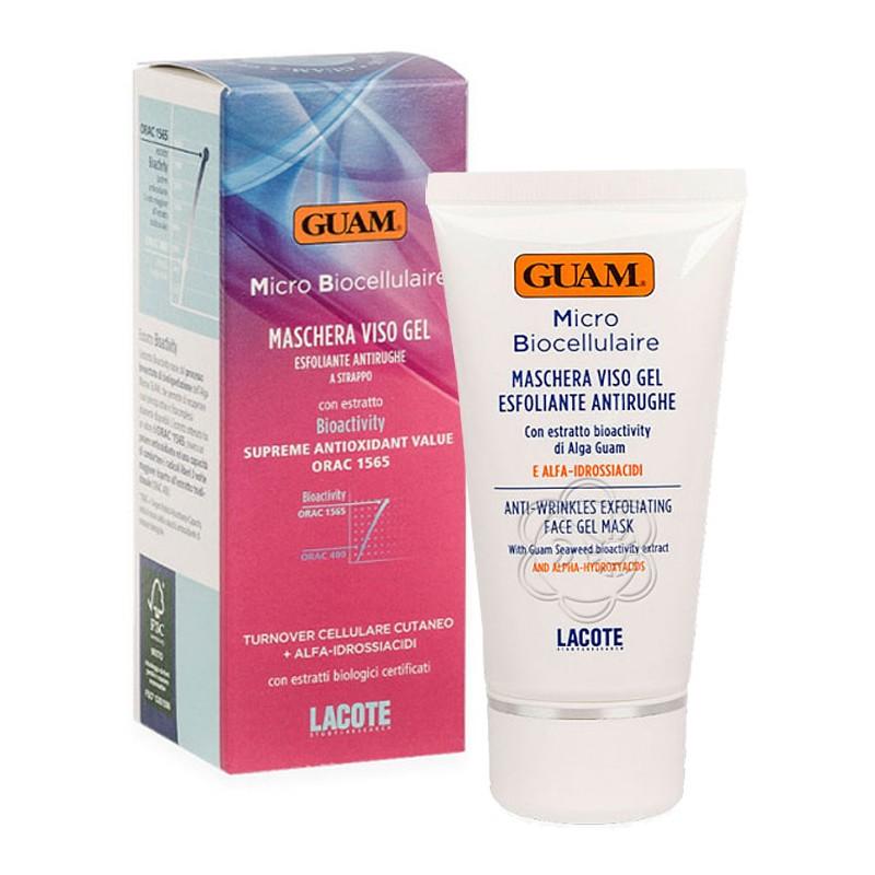 Maschera Viso Gel Esfoliante Antirughe a Strappo Micro Biocellulaire (75 ml) Guam Lacote - Cosmesi
