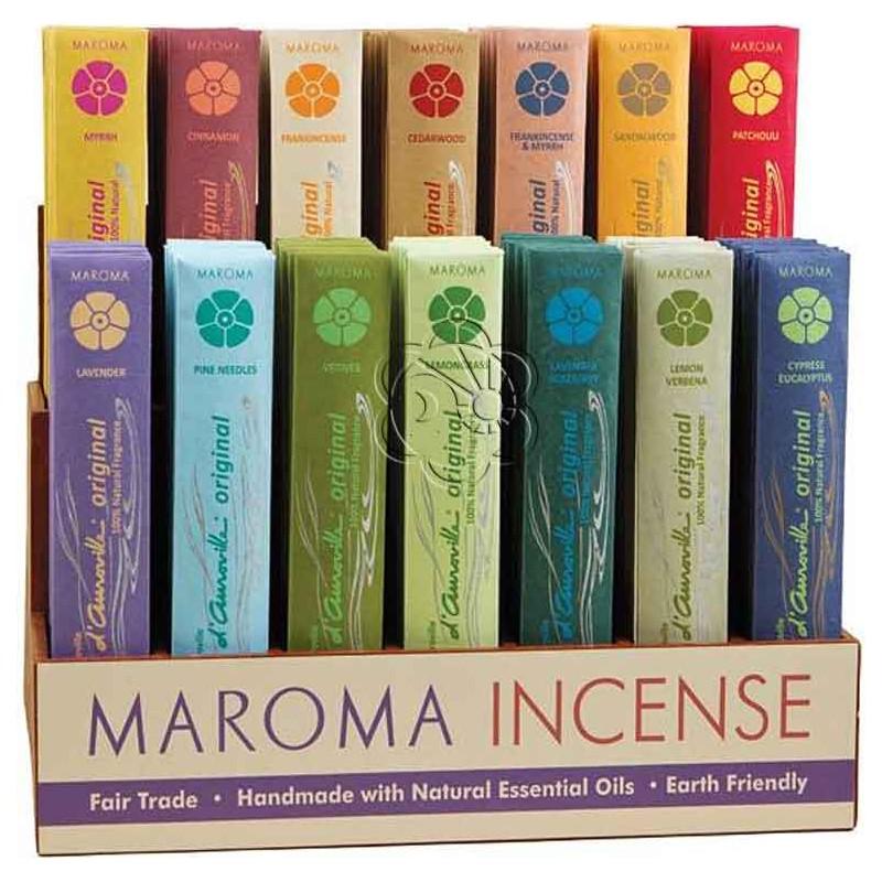 Bastoncini d'Incenso Maroma da bruciare con 16 preziose fragranze diverse - Maroma - Incensini, Aromaterapia