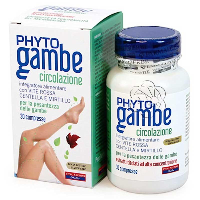 Phyto Gambe Plus Compresse (30 Compresse) Vital Factors - Microcircolazione
