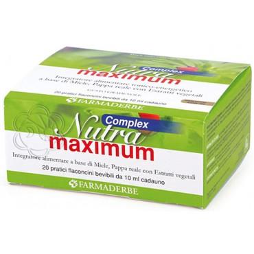 Nutra Maximum Complex Flaconcini (20 x 10 ml) Farmaderbe - Energia Fisica e Mentale
