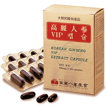 Ginseng Coreano Vip Gold (30 Perle) Korean Ginseng Vip Gold Capsule - ABC Trading - Afrodisiaci