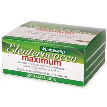 Eleuterococco Maximum Wuchaseng Flaconcini (20 x 10 ml) Farmaderbe - Energia Fisica e Mentale
