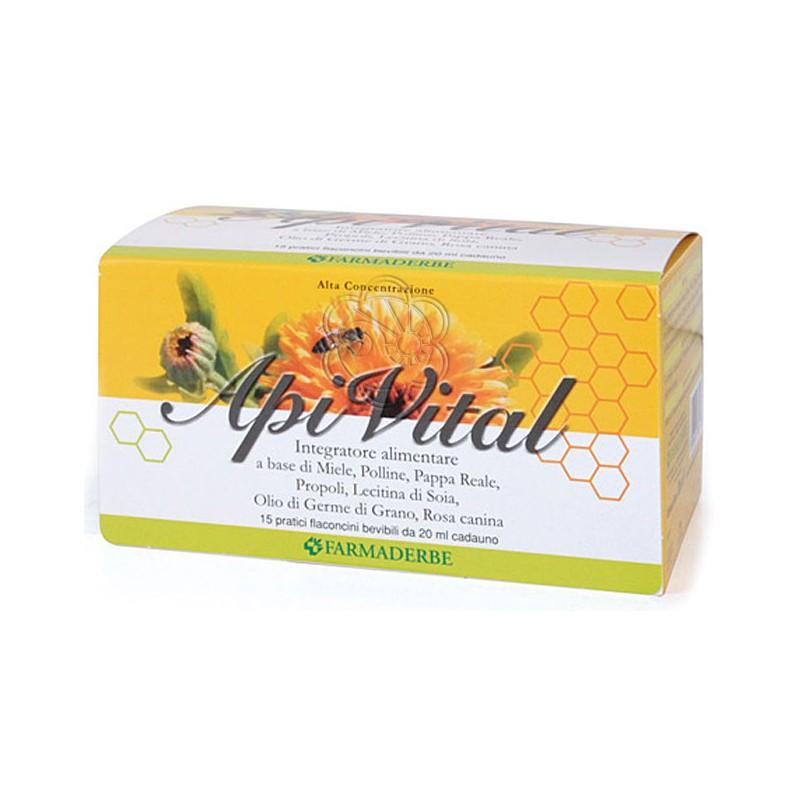 Apivital Complex (15 Flaconi da 20 ml) Farmaderbe - Antiossidanti