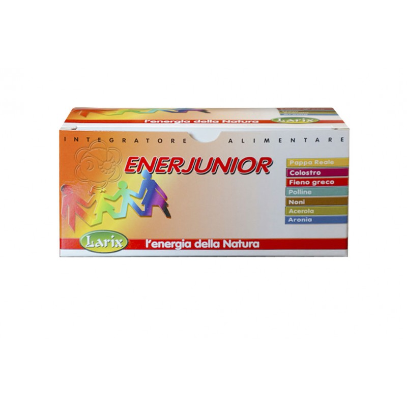 EnerJunior Flaconcini Monodose (210 gr) Larix - Energia Fisica e Mentale