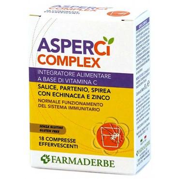 Asper Ci Complex (18 Compresse Effervesc.) Farmaderbe Nutraline - Influenza e Raffreddore