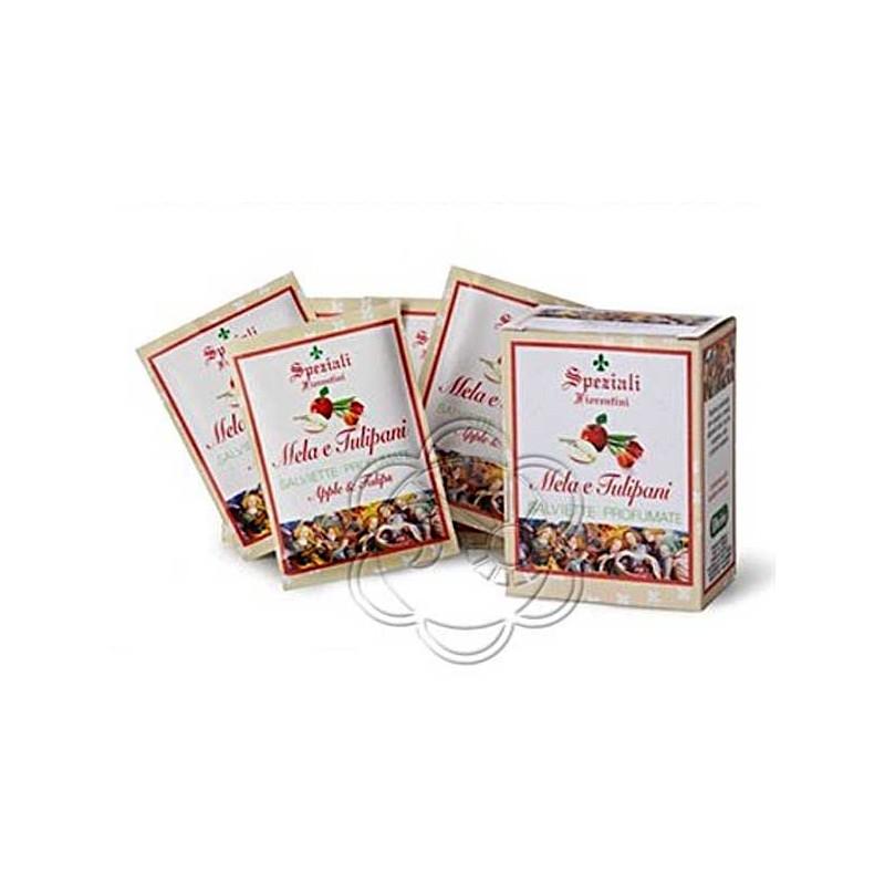 Salviette Profumate Mela & Tulipani (8 Salviette) Derbe Speziali Fiorentini - Salviette Detergenti