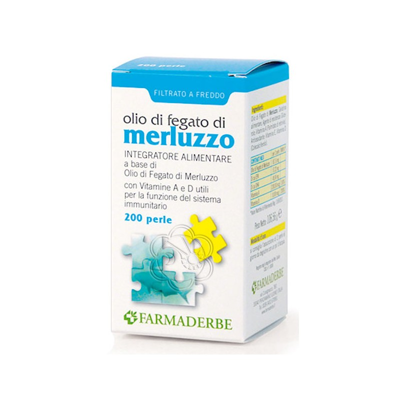 Olio di Fegato di Merluzzo (200 Perle) Farmaderbe - Ossa