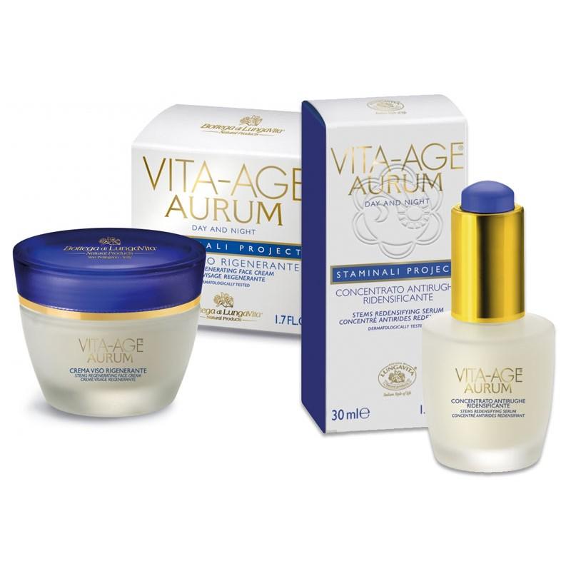Kit Antirughe Vita Age Aurum - Crema + Siero (50+30 ml) Bottega di Lungavita - Cosmesi Vegetale