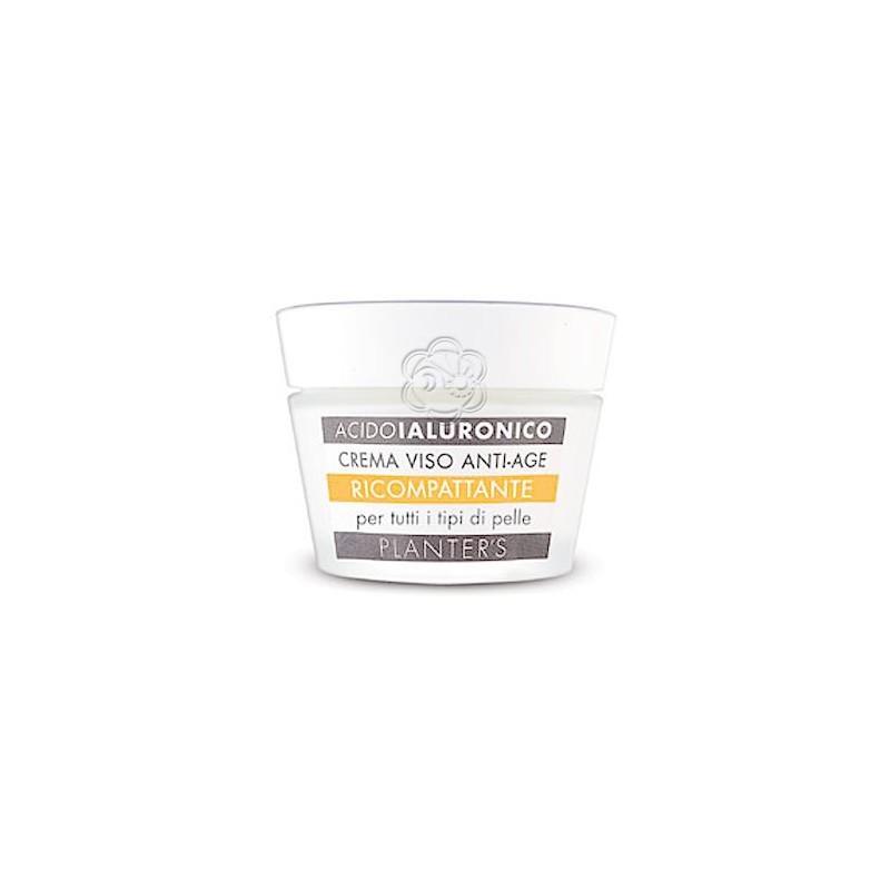 Crema Viso Ricompattante Acido Ialuronico per tutte le Pelli (50 ml) Planters - Cosmesi Vegetale