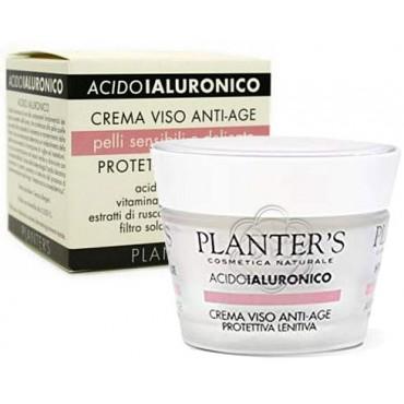 Crema Viso Protettiva Acido Ialuronico Pelli Sensibili e Delicate (50 ml) Planters - Cosmesi Vegetale
