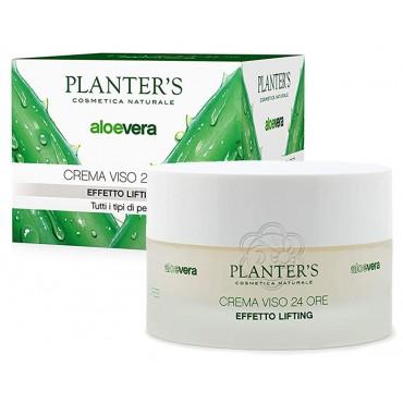 Crema Viso Lifting Aloe vera 24 ore - Effetto Tensore Rimodellante (50 ml) Planters - Cosmesi