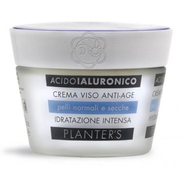 Crema Viso Idratante Acido Ialuronico Pelli Normali e Secche (50 ml) Planters - Cosmesi Vegetale