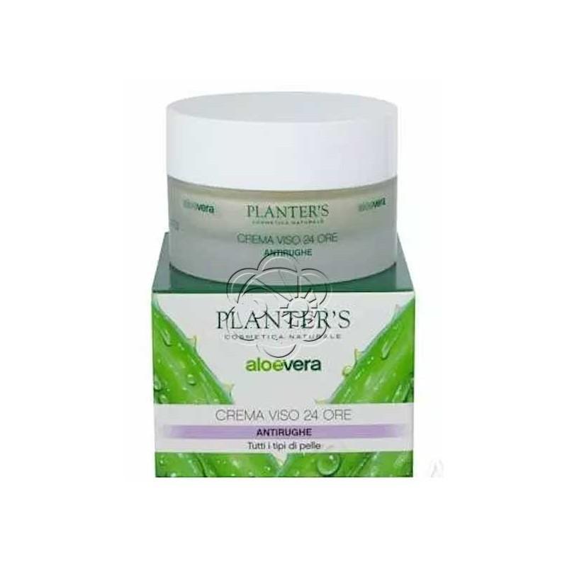 Crema Viso Aloe 24 ore Antitempo per Pelli Atoniche e Rilassate (50 ml) Planters - Cosmesi