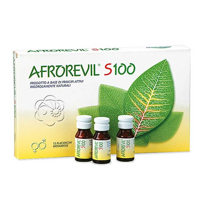 Afrorevil S100 (12 flaconcini) Afrodisiaci Naturali a Base di Erbe - 1 Confezione