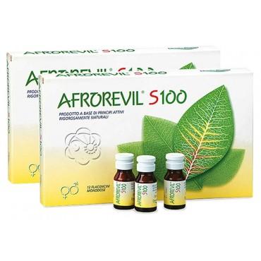 Afrorevil S100 (24 flaconcini) Afrodisiaci Naturali a Base di Erbe - 1 Confezione