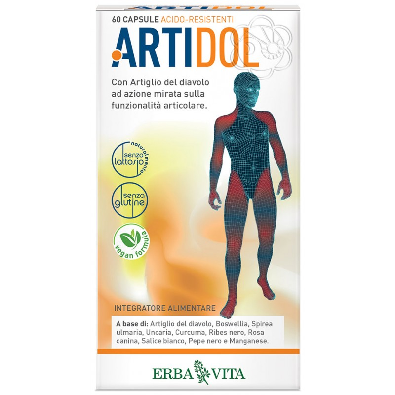 Artidol (60 Capsule Acido Resistenti) Erba Vita - Mal di Schiena, Dolori Articolari