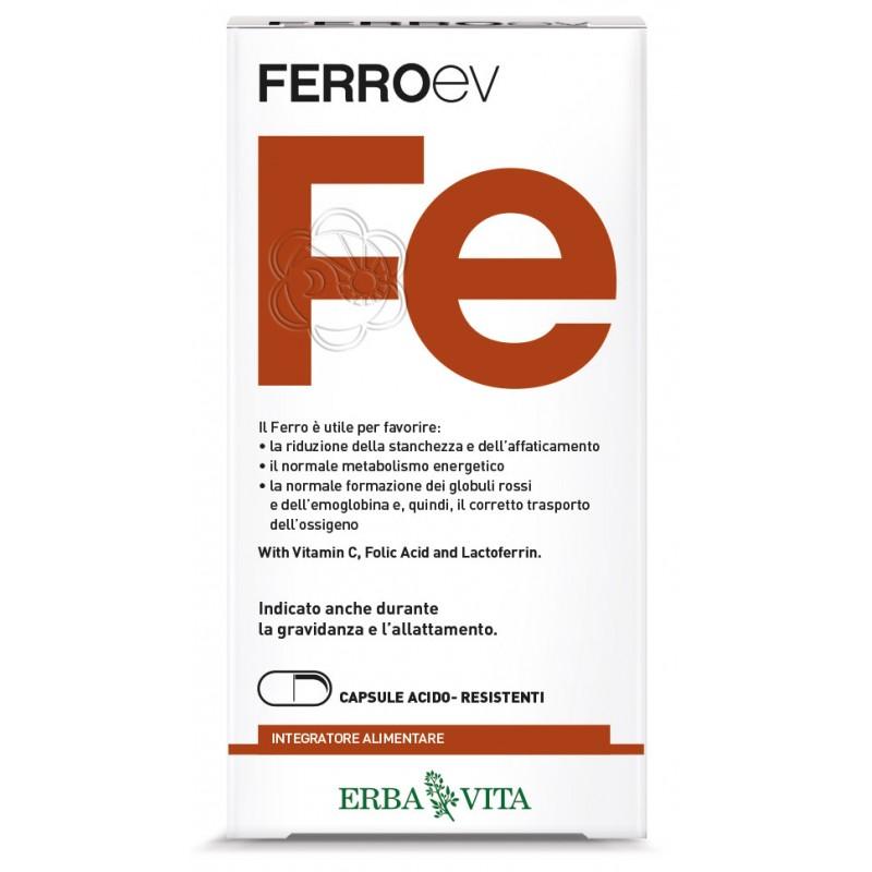 Ferro EV (60 capsule) Erba Vita - Carenza di Ferro