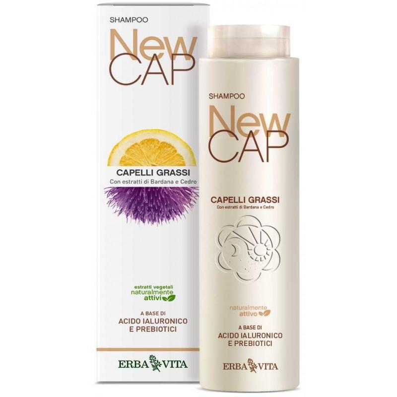 Shampoo Capelli Grassi NewCAP (200 ml) Erba Vita