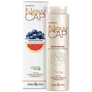 Shampoo Antiforfora Purificante e Rinfrescante NewCAP (200 ml) Erba Vita - Forfora Grassa, Forfora Secca
