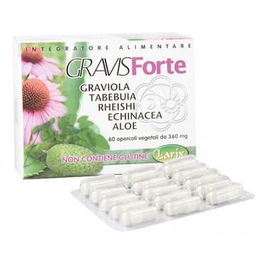 GravisForte (60 Opercoli) Larix - con Graviola e Aloe - Immunomodulante