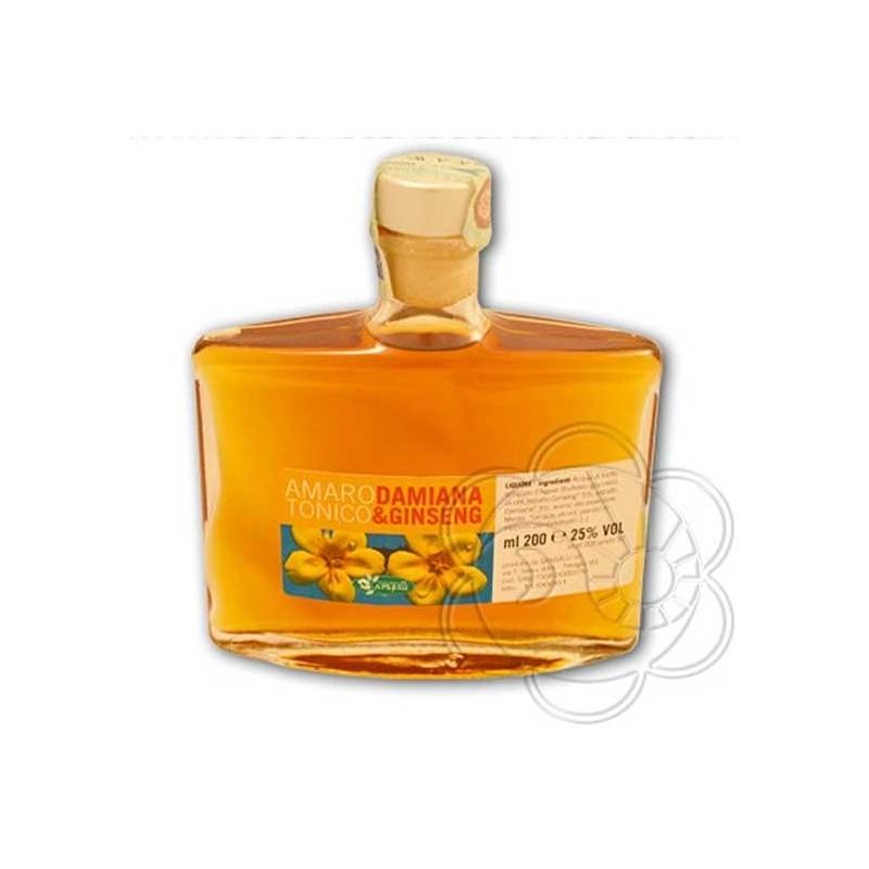 Amaro Tonico Damiana e Ginseng (200 ml) Sangalli - Liquori Naturali