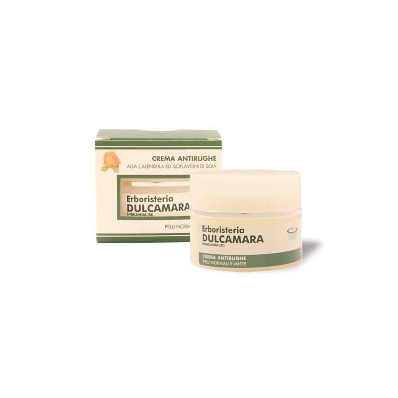 Crema Antirughe Pelli Normali e Miste (50 ml) Linea Erboristeria Dulcamara - Cosmesi