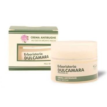 Crema Antirughe Pelli Secche (50 ml) Linea Erboristeria Dulcamara - Cosmesi