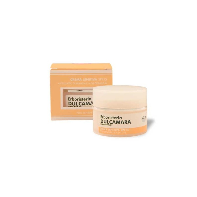 Crema Lenitiva Arancia e Corallina SPF 15 (50 ml) Linea Erboristeria Dulcamara - Cosmesi