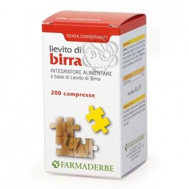 Lievito di Birra (200 Compresse) Farmaderbe - Capelli Deboli