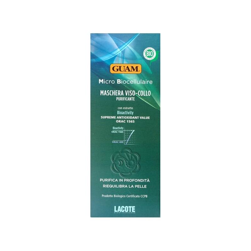 Maschera Viso-Collo Purificante Bio (75 ml) Guam Lacote - Maschere Viso